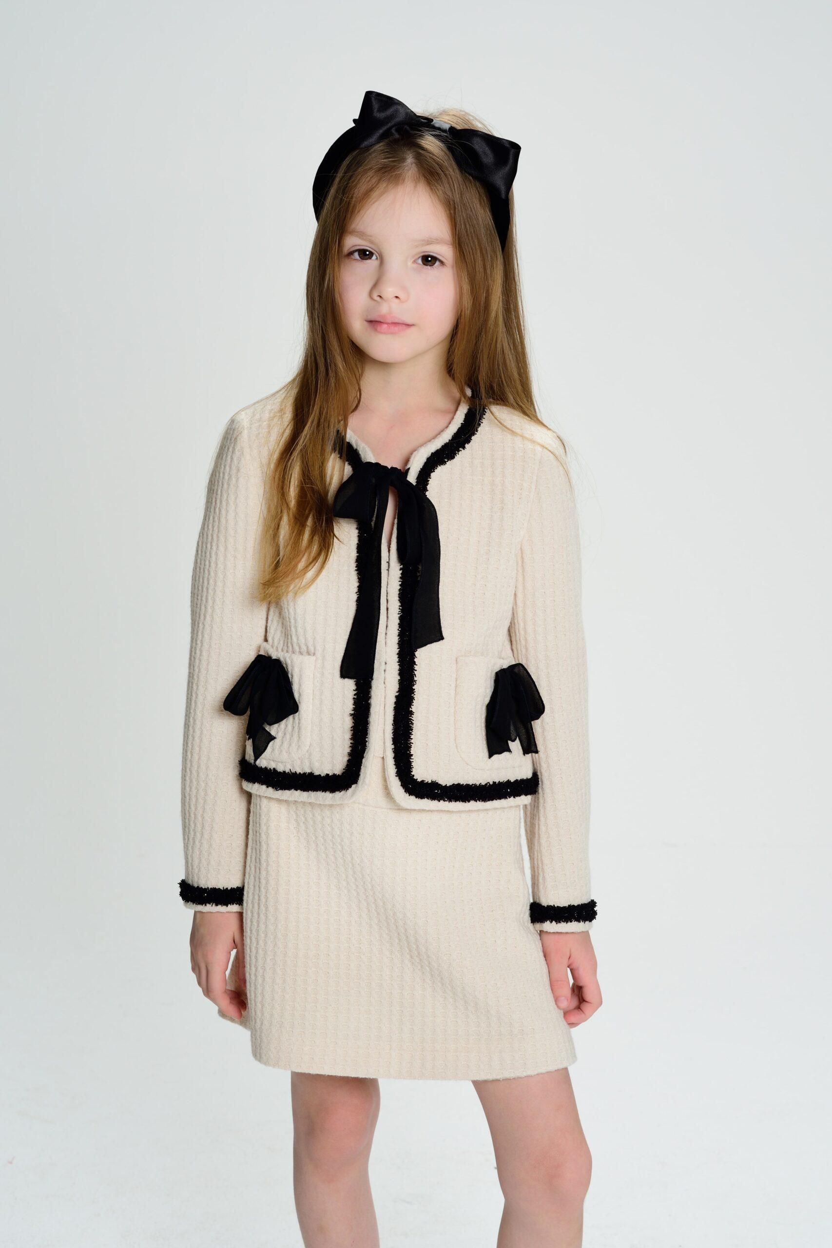 Пиджак с тесьмой и бантиками COCO