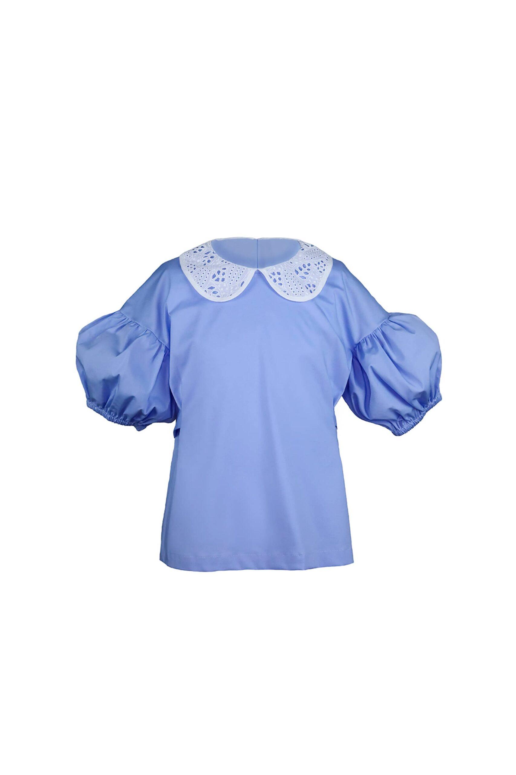 Блуза с крупным рукавом