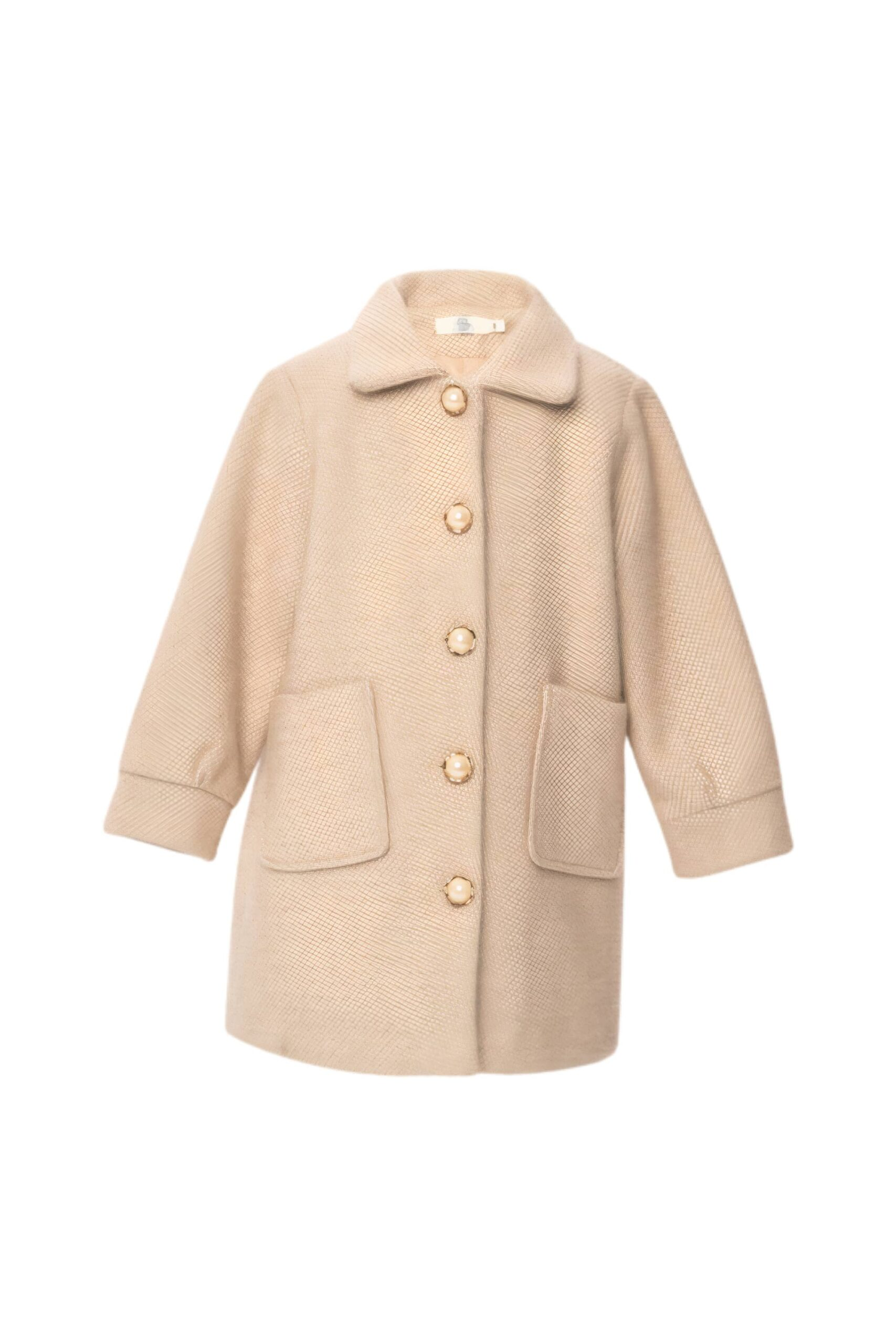 Пальто для девочки бежевое