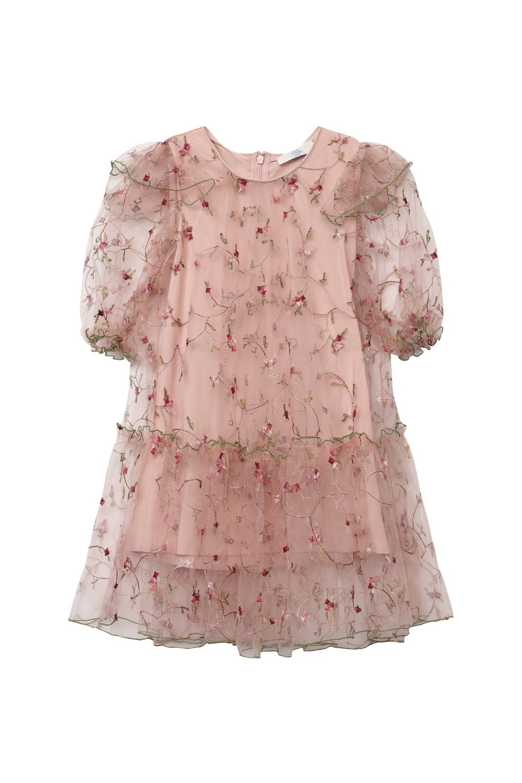 Ruffled mesh dress