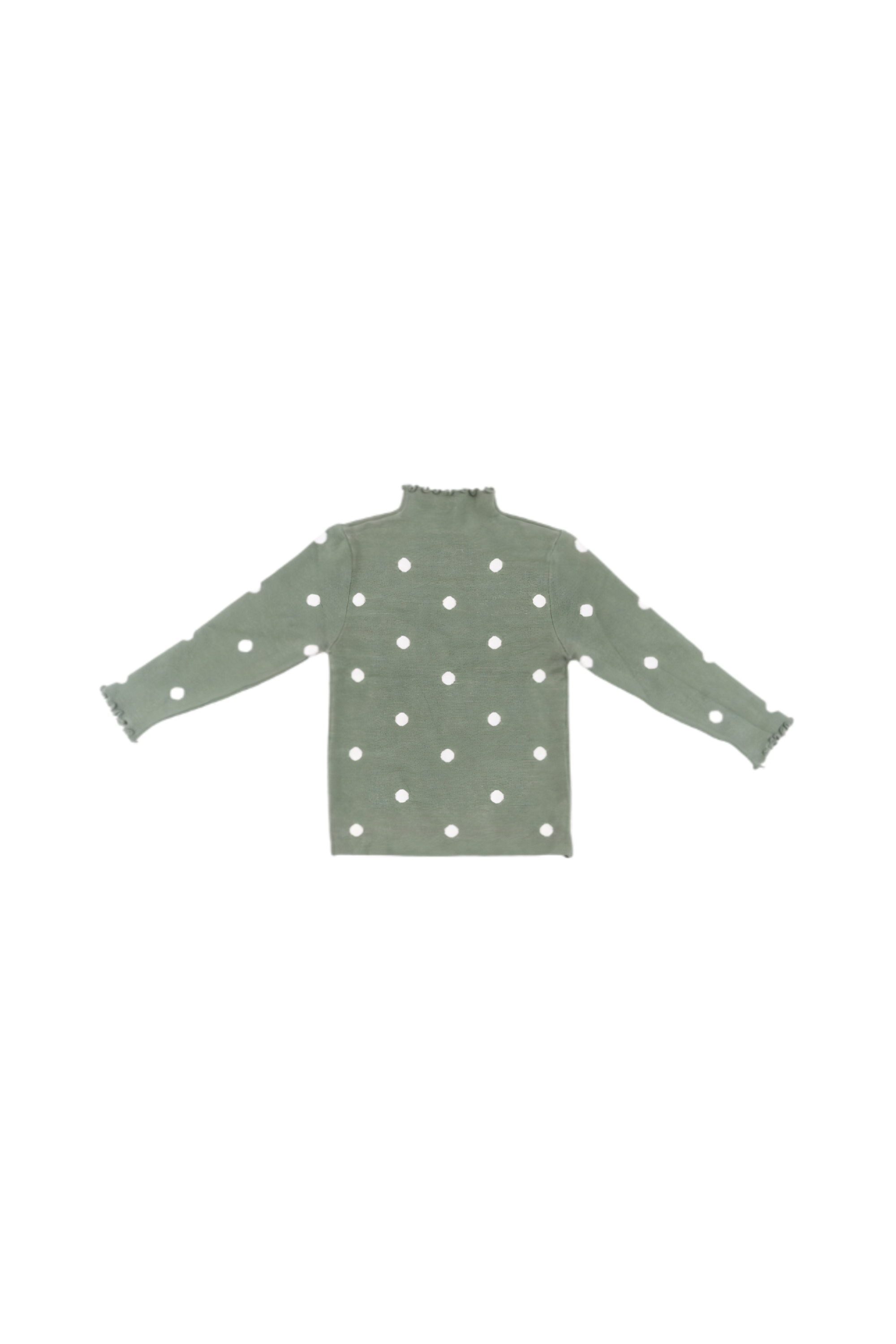 Sweater green with peas