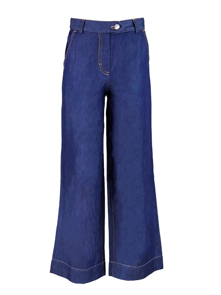 брюки для девочки широки джинс