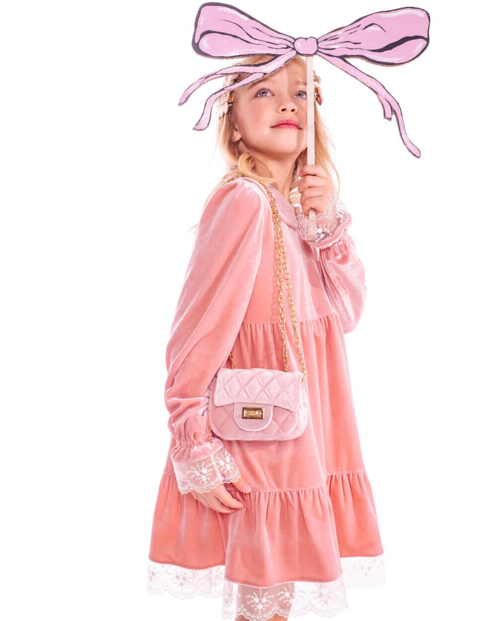 платье из велюра для девочек
