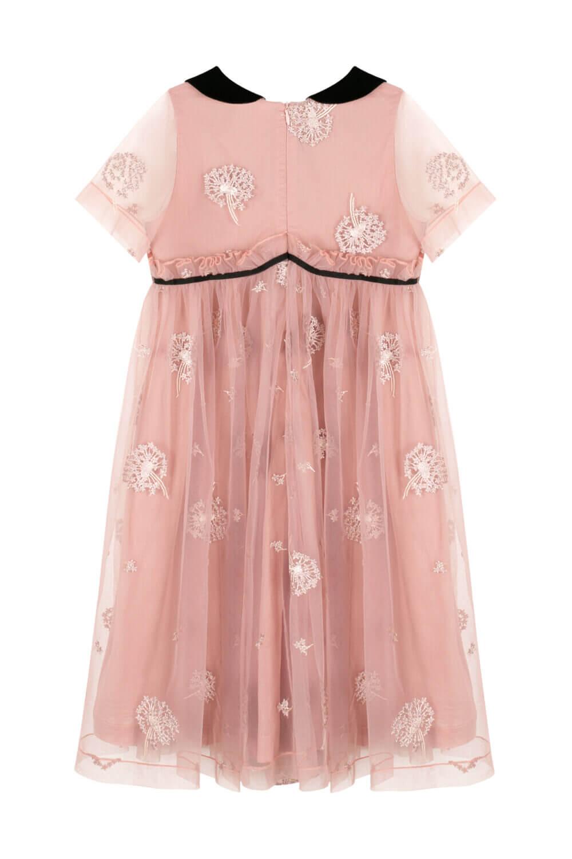 платье розовое с черным воротником для девочек