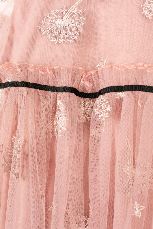 платье с чёрным воротником розовое для девочки