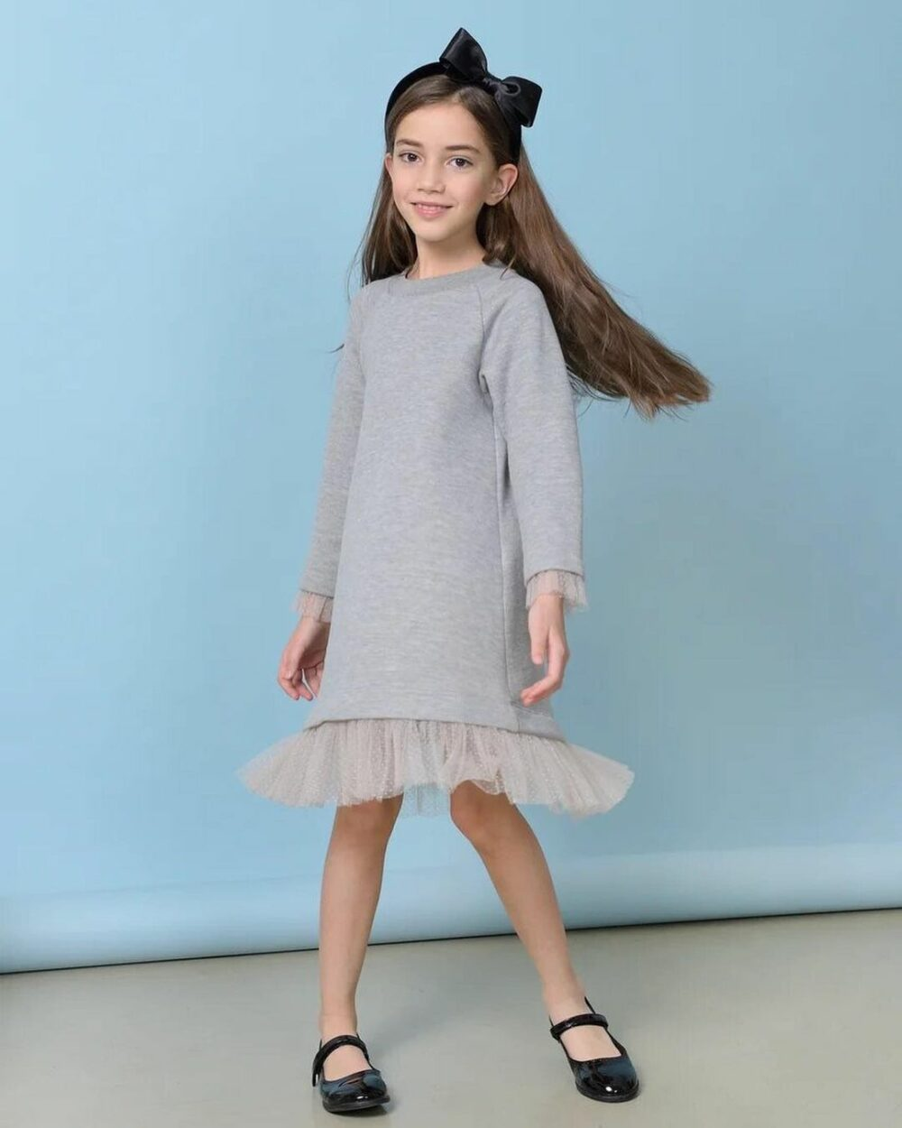 купить платье свитшот для девочки в москве