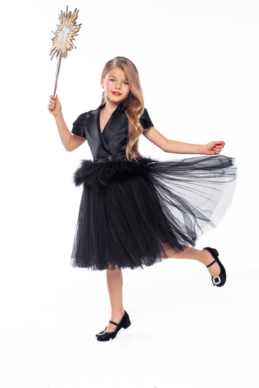 платье для девочки из шёлка
